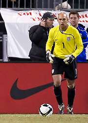 United States goalkeeper Tim Howard (1).  The United States men's soccer team defeated the Mexican national team 2-0 in CONCACAF final group qualifying for the 2010 World Cup at Columbus Crew Stadium in Columbus, Ohio on February 11, 2009.
