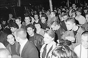 Crowd at The Riffs, UK, 1980s.