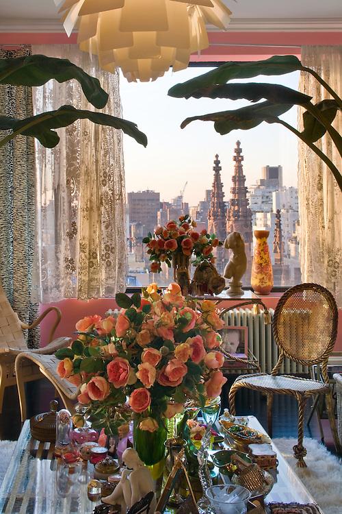 The Manhattan apartment of fashion designer Betsey Johnson.