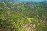 France, Languedoc Roussillon, Cevennes, Lozère, Vallée Française, vue aérienne