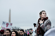 Washington D.C. - Stati Uniti - La marcia delle donne nella capitale degli Stati Uniti all'indomani del giuramento del neo eletto preidente Donald Trump. Quasi un milione di donne (e non solo) hanno sfilato pacificamente lungo le strade di Washington D.C. per manifestare il loro dissenso nei confronti del presidente Trump.<br /> Ph. Roberto Salomone