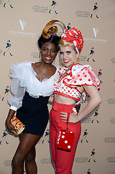 The Johnnie Walker Gold Label Reserve Party aboard John Walker & Sons Voyager, St.Georges Stairs Tier, Butler's Wharf Pier, London, UK on 17th July 2013.<br /> Picture Shows:-Shingai Shoniwa & Paloma Faith.