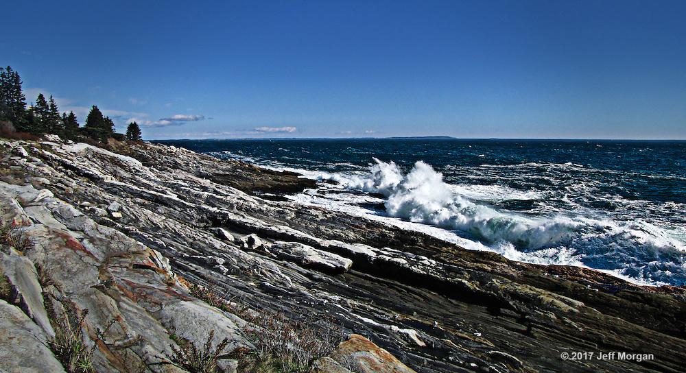 Surf on the rocks, Pemaquid, Maine