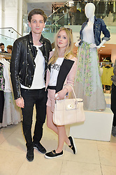 DIANA VICKERS and GEORGE CRAIG at a party to celebrate the launch of French Connection's #CANTHELPMYSELFIE -The UK's first in-store interactive selfie booths and windows held at French Connection, 249-251 Regent Street, London on 15th April 2014.