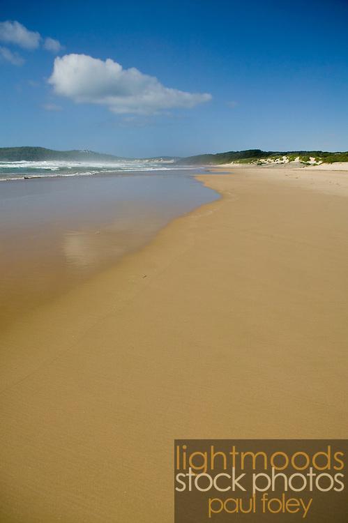 Empty Beachscape, East Coast Australia, Samurai Beach, Port Stephens, NSW, Australia,