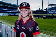 A young Warriors fan. Sydney Roosters v Vodafone Warriors. NRL Rugby League. Sydney Cricket Ground, Sydney, Australia. 18th August 2019. Copyright Photo: David Neilson / www.photosport.nz