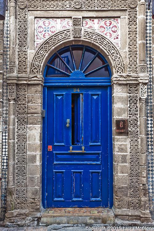 Blue Moroccan Doorway in Essaouira Morocco