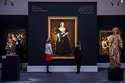 Sculptures from the Old Masters Sculpture sale and Van Dyck, Anne Sophia, Countess of Carnarvon, circa 1636, est. £400,000-600,000 - London Old Masters Evening sale exhibition at Sotheby's New Bond Street. The sale takes palce on 6 December 2017 covers 400 years of art history.