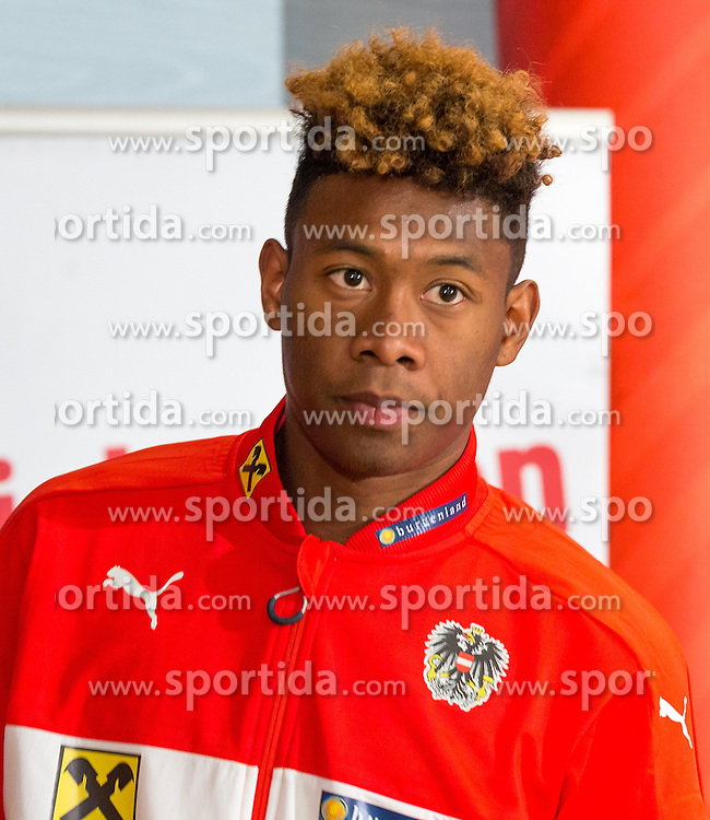 22.03.2016, Hotel & Spa Larimar, Stegersbach, AUT, OeFB Pressekonferenz, im Bild David Alaba (AUT) // David Alaba (AUT) during a Pressconference of Austrian National Footballteam at the Hotel & Spa Larimar in Stegersbach, Austria on 2016/03/22. EXPA Pictures © 2016, PhotoCredit: EXPA/ Dominik Angerer