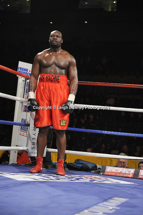"Larry Olubamiwo (pictured) defeats Paul Butlin at the Echo Arena, Lverpool,11th December 2010,Frank Warren.tv Promotions ""Return Of The Magnificent Seven"" © Photo Leigh Dawney"