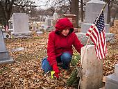 Christmas Wreaths Laid on Iowa Veterans' Headstones