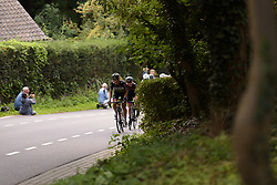 Escape lead by Natalie van Gogh up the GPM at Boels Rental Ladies Tour Stage 6 a 159.7 km road race staring and finishing in Sittard, Netherlands on September 3, 2017. (Photo by Sean Robinson/Velofocus)