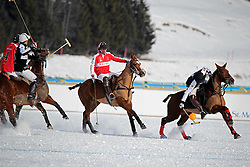 Gonzalo Bourdieu of team Germany going for the ball<br /> St.Moritz Polo World Cup On Snow 2011<br /> © Dirk Caremans