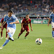 NEW YORK, NEW YORK - June 02: David Villa #7 of New York City FC scores from the penalty spot during the NYCFC Vs Real Salt Lake regular season MLS game at Yankee Stadium on June 02, 2016 in New York City. (Photo by Tim Clayton/Corbis via Getty Images)