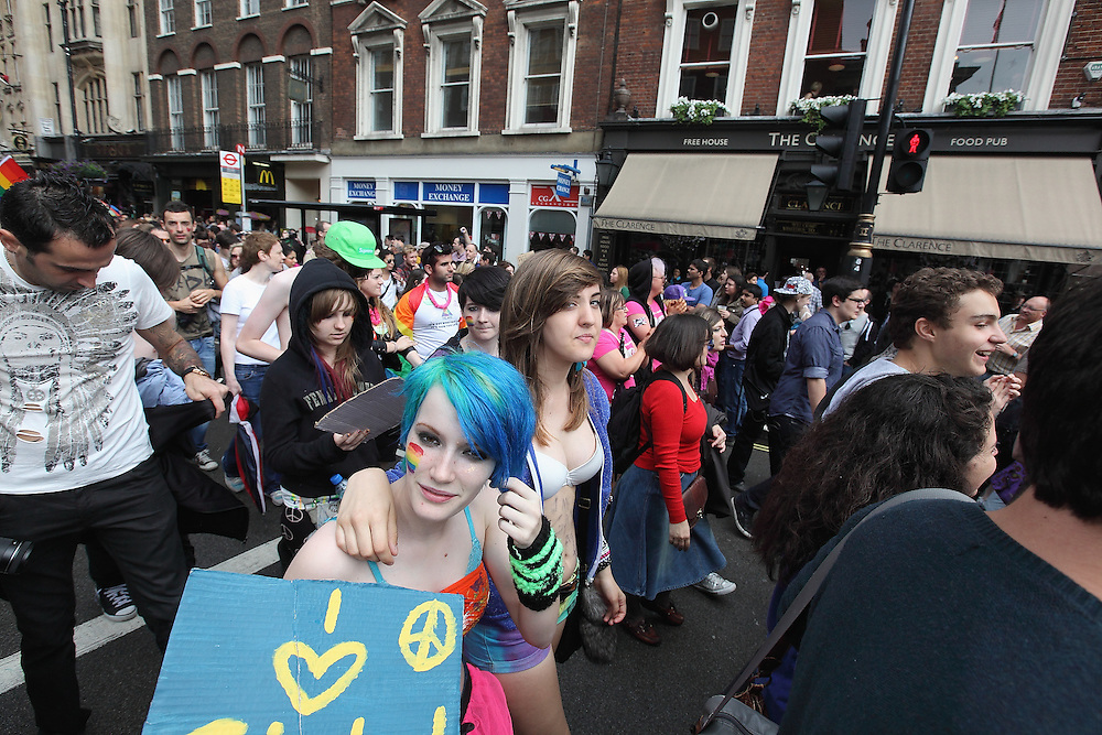 WorldPride 2012 procession in London - LGBT (Lesbian, Gay, Bisexual and Transgender) community 7/07/2012
