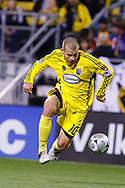 25 OCTOBER 2009:  Alejandro Moreno of the Columbus Crew (10) during the New England Revolution at Columbus Crew MLS game in Columbus, Ohio on October 25, 2009.