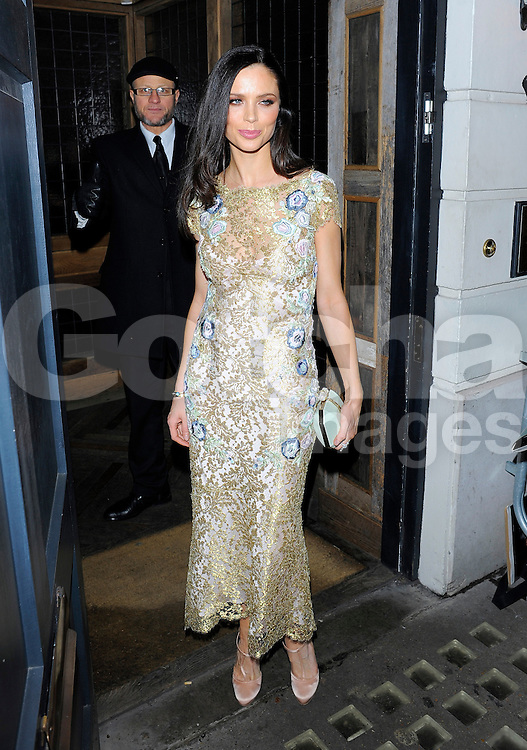 Georgina Chapman attends Harvey Weinstein's pre-BAFTA dinner at Little House restaurant in London, UK. 14/02/2014<br />BYLINE MUST READ : GOTCHAIMAGES.COM<br /><br />Copyright by &copy; Gotcha Images Ltd. All rights reserved.<br />Usage of this image is conditional upon the acceptance <br />of Gotcha Images Ltd, terms and conditions available at<br />www.gotchaimages.com