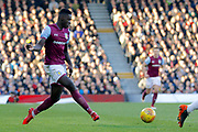 Aston Villa defender Axel Tuanzebe (28) during the EFL Sky Bet Championship match between Fulham and Aston Villa at Craven Cottage, London, England on 17 February 2018. Picture by Andy Walter.