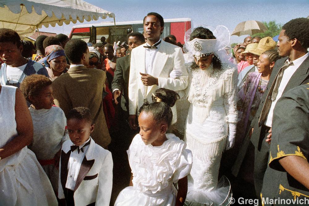 Soweto, Johannesburg, South Africa, 1992. Zinzi Mandela's wedding 24 October 1992, daughter of Winnie and Nelson Mandela,