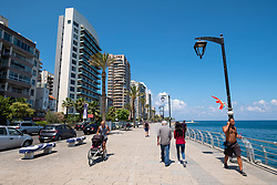 View along The Corniche in Beirut, Lebanon.