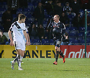 Ross County&rsquo;s Liam Boyce celebrates after completing his hat-trick - Ross County v Dundee, Ladbrokes Premiership at Victoria Park<br /> <br />  - &copy; David Young - www.davidyoungphoto.co.uk - email: davidyoungphoto@gmail.com