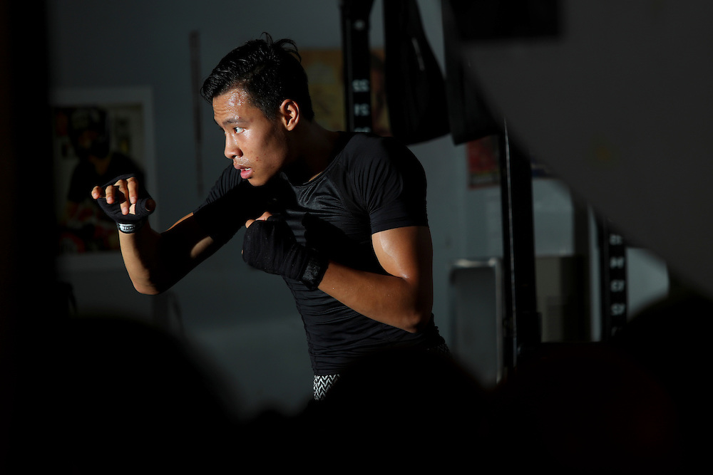 Thomas Woo, 16, spends hours training at La Habra Boxing Club for his bout at the 2016 Elite, Youth and Junior National Championships in Kansas City, Missouri.
