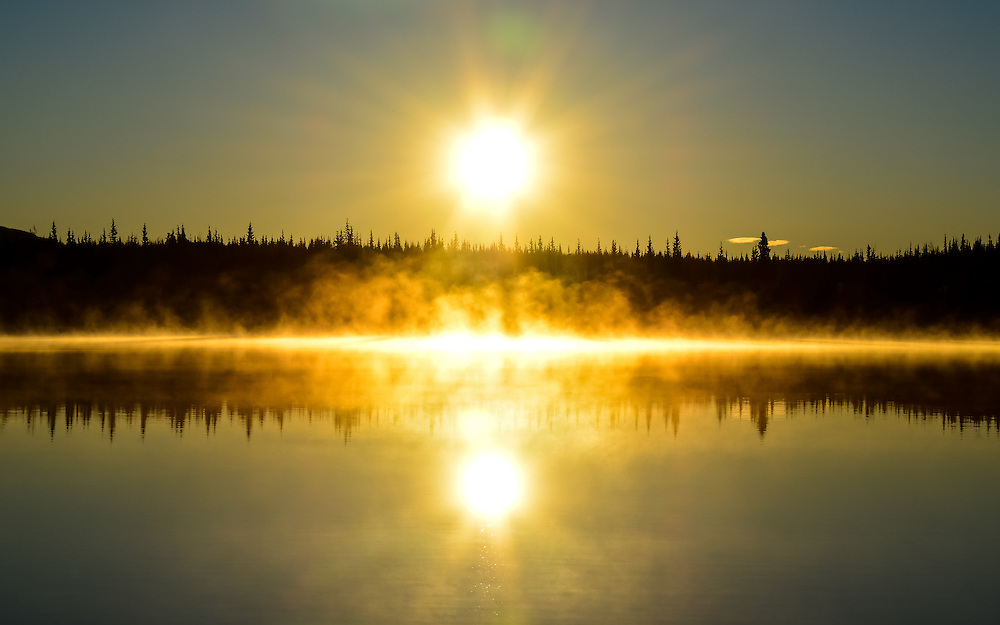 Sunrise at Twin Lakes, Yukon