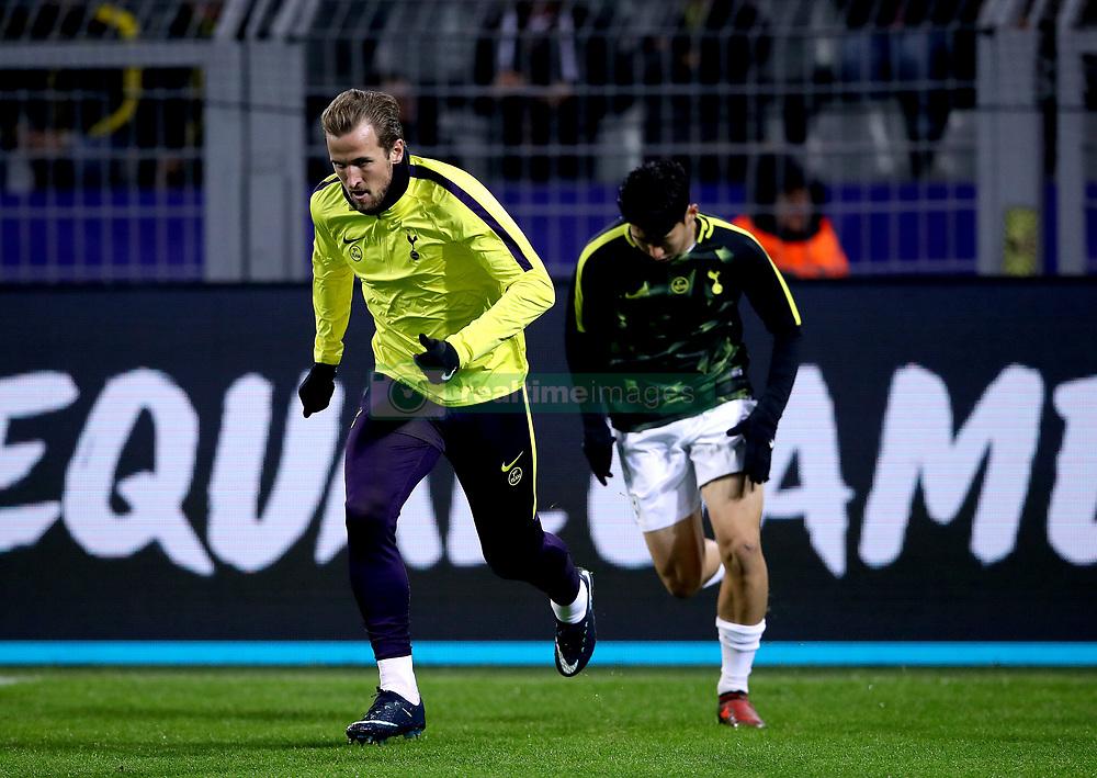 Tottenham Hotspur's Harry Kane during warm-up