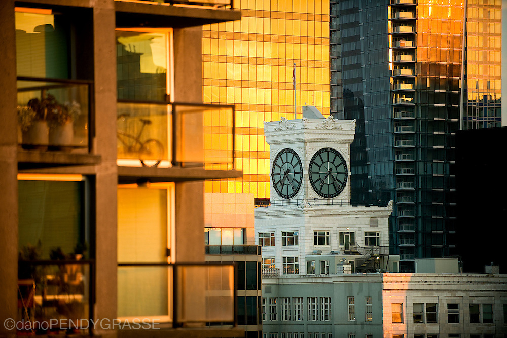 Warm morning light in Downtown Vancouver, BC. Canada.