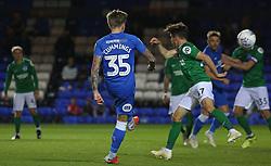 Jason Cummings of Peterborough United scores his sides second goal of the game - Mandatory by-line: Joe Dent/JMP - 09/10/2018 - FOOTBALL - ABAX Stadium - Peterborough, England - Peterborough United v Brighton and Hove Albion U21 - Checkatrade Trophy