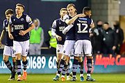 Goal! Millwall forward Jón Dadi Bödvarsson (23) scores a goal and celebrates 2-0 during the EFL Sky Bet Championship match between Millwall and Reading at The Den, London, England on 18 January 2020.