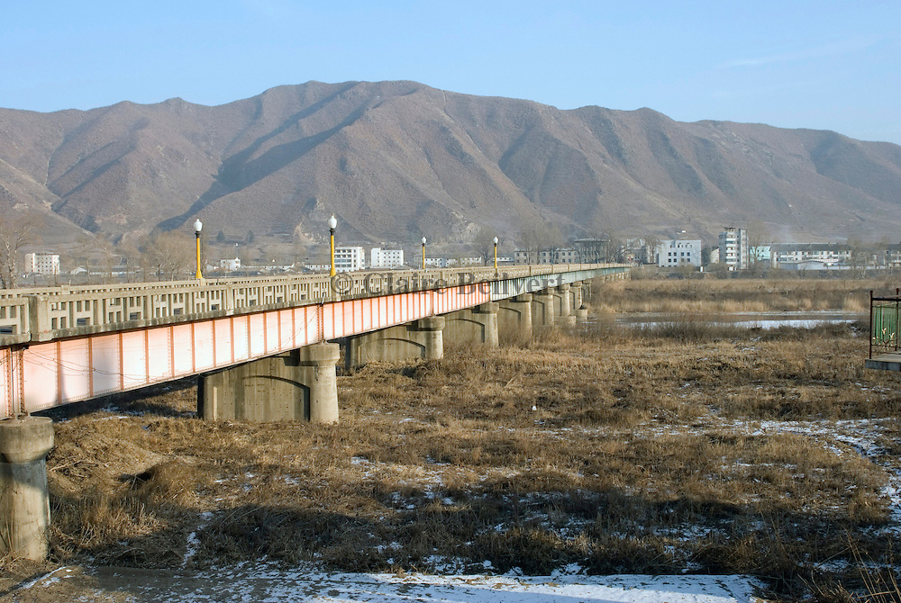 The bridge over the Tumen river which marks the border between China and North Korea. It joins up the Chinese city of Tumen and the North Korean city of Namyang.
