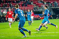 ALKMAAR - 08-12-2016, AZ - FC Zenit, AFAS Stadion, AZ speler Muamer Tankovic (r) scoort hier de 3-1, doelpunt,