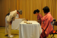The rituals of the tea ceremony are followed to the letter at the 2012 Obon Festival at the Buddhist Temple of Salinas.