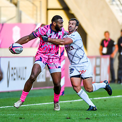 Waisea Nayacalevu of Paris during Top 14 match between Stade Francais and Union Bordeaux Begles on September 1, 2018 in Paris, France. (Photo by Aude Alcover/Icon Sport)