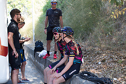 CANYON//SRAM Racing riders joke with team staff before Stage 9 of the Giro Rosa - a 122.3 km road race, between Centola fraz. Palinuro and Polla on July 8, 2017, in Salerno, Italy. (Photo by Balint Hamvas/Velofocus.com)