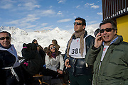 ALEXANDER OSTROWSKY; ANASTASIA GRAZIOLI; CASIMIR SAYN WITTGENSTEIN; JURY OSTROWSKY. Children and Adult ski race in aid of the Knights of Malta,  Furtschellas. St. Moritz, Switzerland. 23 January 2009 *** Local Caption *** -DO NOT ARCHIVE-© Copyright Photograph by Dafydd Jones. 248 Clapham Rd. London SW9 0PZ. Tel 0207 820 0771. www.dafjones.com.<br /> ALEXANDER OSTROWSKY; ANASTASIA GRAZIOLI; CASIMIR SAYN WITTGENSTEIN; JURY OSTROWSKY. Children and Adult ski race in aid of the Knights of Malta,  Furtschellas. St. Moritz, Switzerland. 23 January 2009