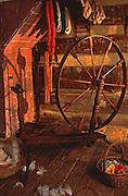 Spinning wheel, Somerset Historical Center