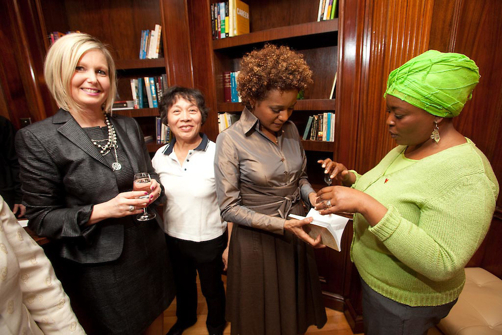 The Governor General of Canada, Michaelle Jean, meets with the Sauvé Scholars at the Sauvé Foundation in Montreal, Canada on February 18th, 2010