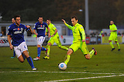 Danny Galbraith (11) of York City on the attack during the Vanarama National League match between Eastleigh and York City at Arena Stadium, Eastleigh, United Kingdom on 12 November 2016. Photo by Graham Hunt.