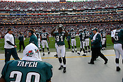 LANDOVER, MD - NOVEMBER 11: The Philadelphia Eagles Bench during the game against the Washington Redskins on November 11, 2007 at FedEx Field in Landover, Maryland. The Eagles won 33-25.