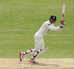 Durham's Keaton Jennings flicks a shot away - Photo mandatory by-line: Robbie Stephenson/JMP - Mobile: 07966 386802 - 04/05/2015 - SPORT - Football - London - Lords  - Middlesex CCC v Durham CCC - County Championship Division One