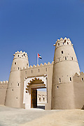 Al Jahili Fort in Al Ain, in the emirate of Abu Dhabi. Al Ain has been granted World Heritage status.