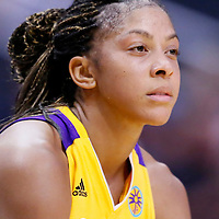 24 July 2014: Los Angeles Sparks forward/center Candace Parker (3) rests during the Phoenix Mercury 93-73 victory over the Los Angeles Sparks, at the Staples Center, Los Angeles, California, USA.