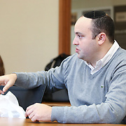 """Jonny Daniels, Founder and Executive Director of """"From The Depths,"""" speaks at Boston University Hillel on December 2, 2014 in Boston, Massachusetts. (Photo by Elan Kawesch)"""