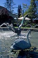 Fountain at Sebastiani, Downtown Sonoma, Sonoma County, California