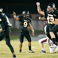 Thomas Wells | BUY at PHOTOS.DJOURNAL.COM<br /> Pontotoc begins to celebrate after recovering a fumble in the fourth quarter against New Albany.