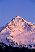 Detail view of Mt. Hood at sunset, Mt. Hood National Forest, Oregon