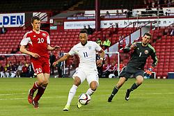 Nathan Redmond of England attacks - Photo mandatory by-line: Matt McNulty/JMP - Mobile: 07966 386802 - 11/06/2015 - SPORT - Football - Barnsley - Oakwell Stadium - England U21 v Belarus U21 - International Friendly U21s