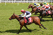 COPPER KNIGHT (3) ridden by David Allan and trained by Tim Easterby winning The Matchbook Betting Exchange Handicap Stakes over 5f (£30,000) during the second day of the Dante Festival at York Racecourse, York, United Kingdom on 16 May 2019.